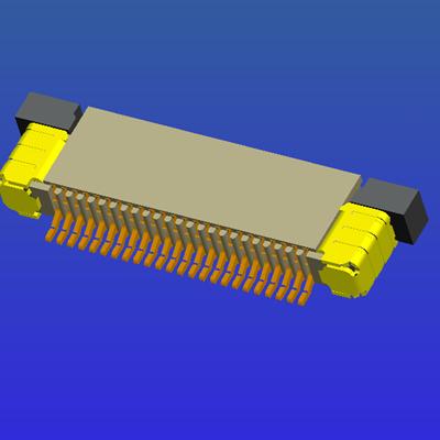 0.5mm間距全包上接抽屜式FPC