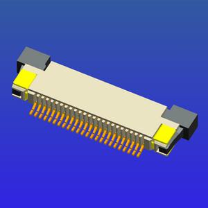 0.5mm間距半包上接抽屜式FPC