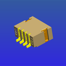 1.0mm间距T4内嵌焊片型WTB