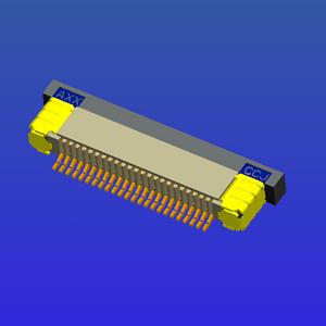 0.5mm間距全包下接抽屜式FPC
